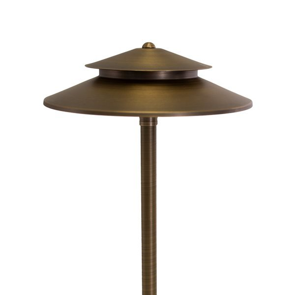 "VOLT Stratum 12"" Brass Two Tier Path LED"